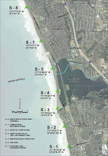 San Elijo JPA Shore Sampling Sites