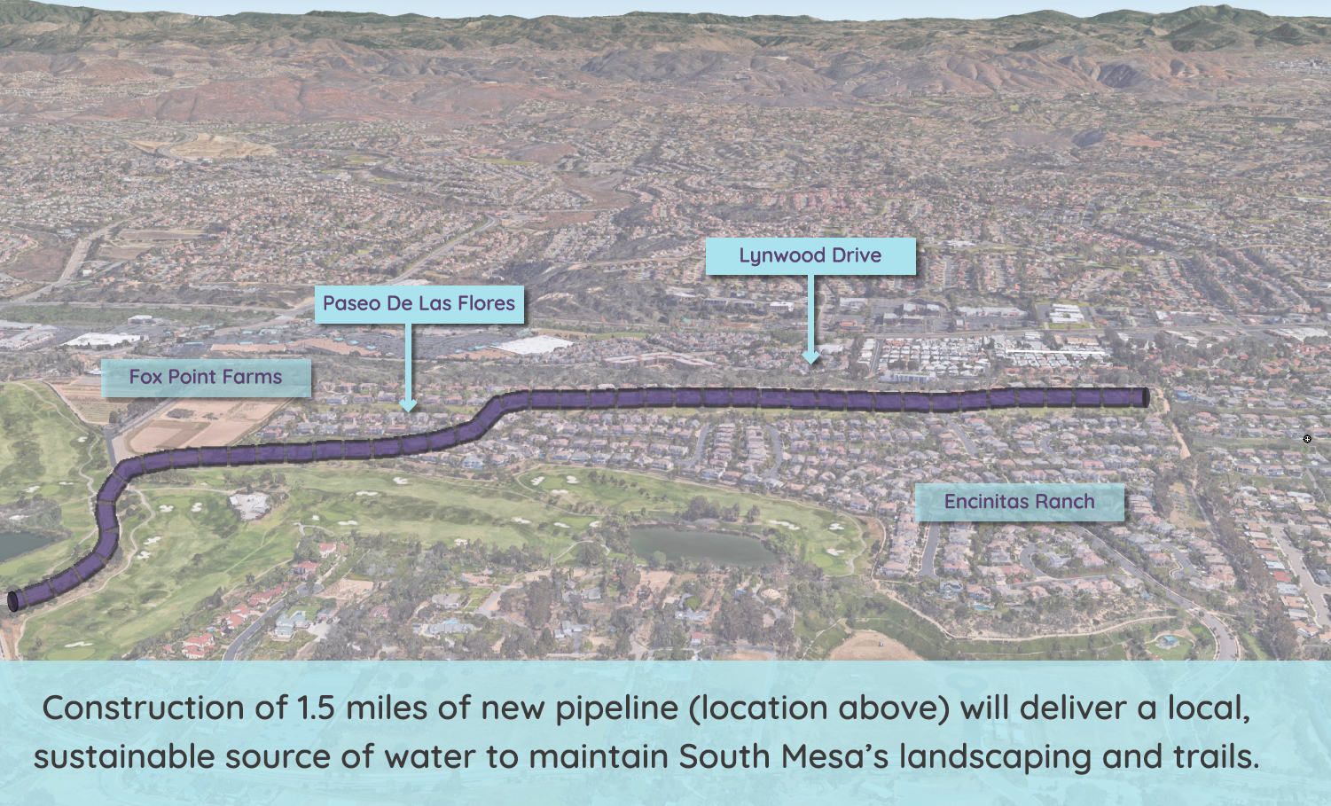 Encinitas Ranch Recycled Water Project Map